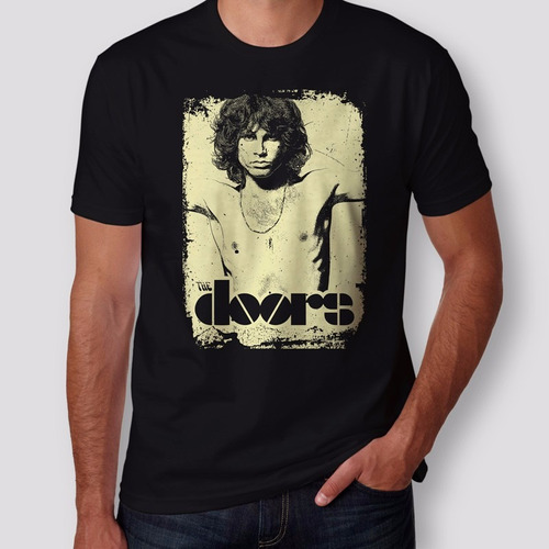 camiseta jim morrison the doors masculina