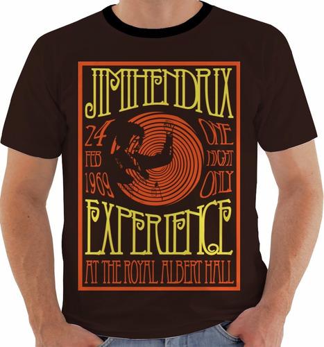 camiseta jimi hendrix concert poster royal albert hall m139