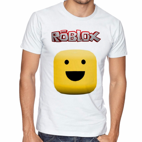camiseta jogo game roblox rosto manga curta tamanho