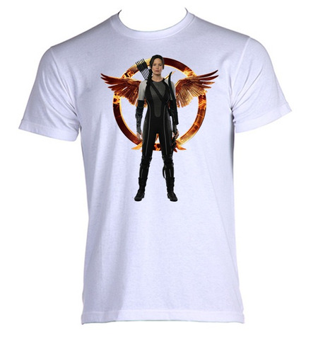 camiseta jogos vorazes - hunger games - n - do  p ao gg