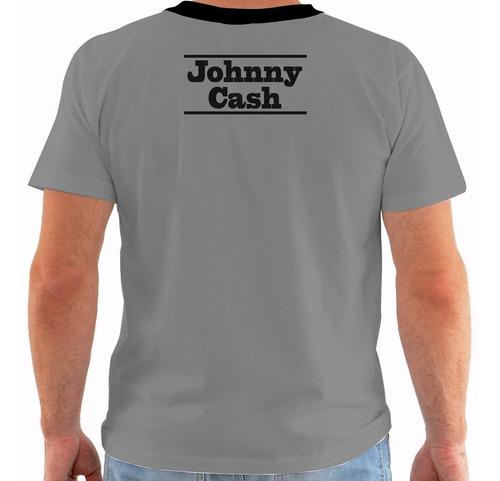 camiseta johnny cash - concert poster live nashville pb m243