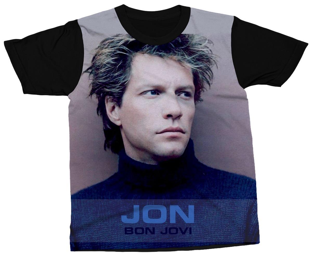 30c516481 Camiseta Jon Bon Jovi Banda Música Rock Bon Jovi Camisa - R  89