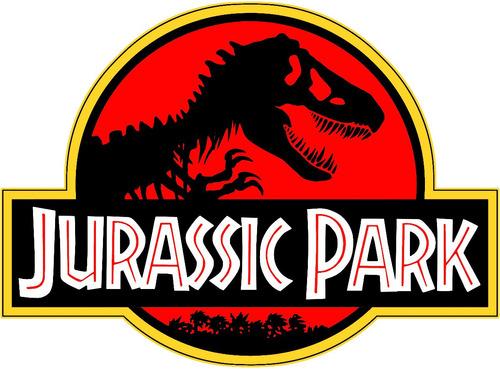 camiseta jurassic park logo vermelho camisa blusa raglan