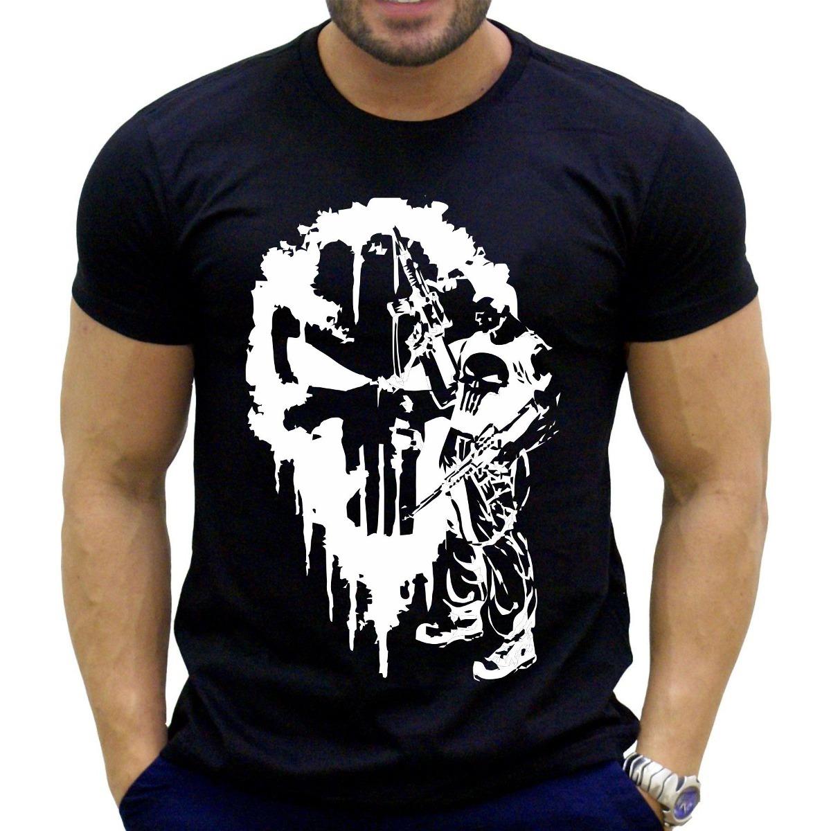 camiseta justiceiro punisher academia musculação. Carregando zoom. 888202907ef