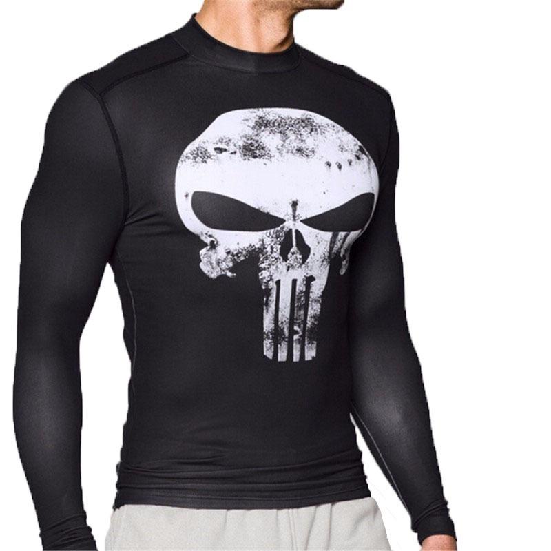 dee17c9b278 Camiseta Justiceiro Punisher Manga Longa