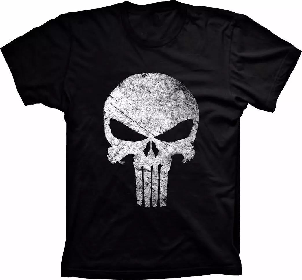 Camiseta Justiceiro The Punisher Camisa Barata Caveira Preta - R  39 ... 3224fd51957bc