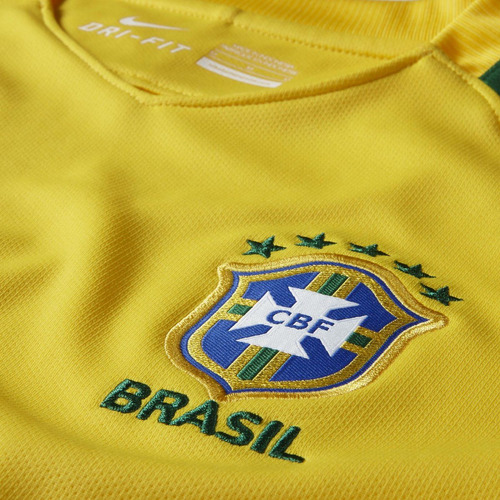 Camiseta Juvenil Nike Brasil Cbf Stadium Home 724685  4c06878dfd3fb
