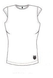 camiseta k-swiss manga japonesa feminina fitness tennis