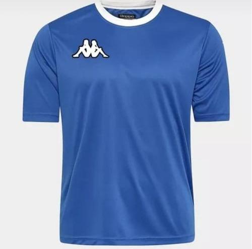 camiseta kappa esportiva masculina - azul