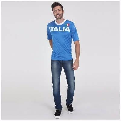 Camiseta Kappa Itália Oficial Masculina - R  49 a9a2dc66ef119