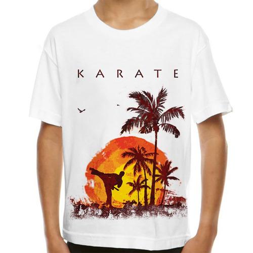 camiseta karatê lateral kick infantil