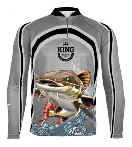 camiseta king proteçao solar uv fator 50 praia pesca sol