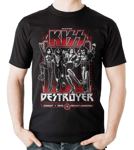 camiseta kiss 2020 tour end of the road rock activity