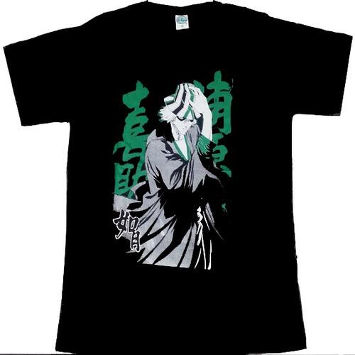 camiseta kisuke urahara anime bleach 100% algodão