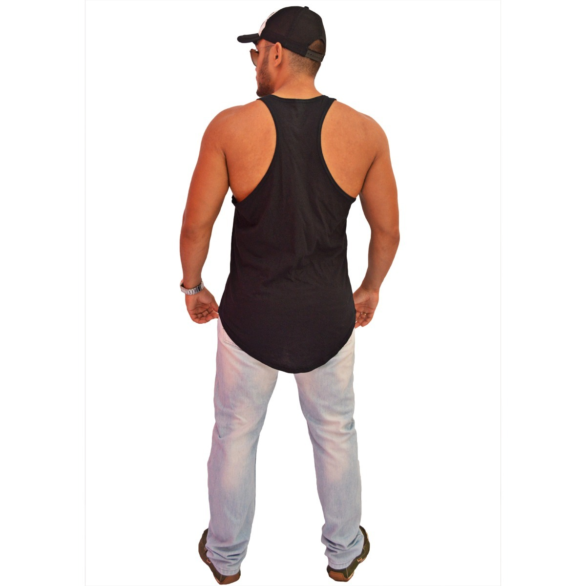 2e690892ef camiseta kit 5 regata masculina longline oversized swag. Carregando zoom.