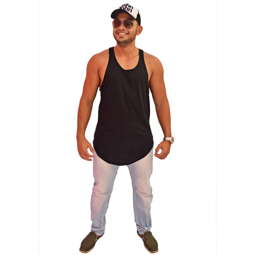 fcc68b2ae4 Camiseta Kit 5 Regata Masculina Longline Oversized Swag - R  97