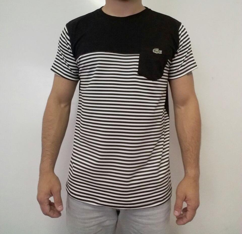 Camiseta Kit C 3 Camisa T-shirt Lacoste Com Elastano E Bolso - R ... 63b53e3910