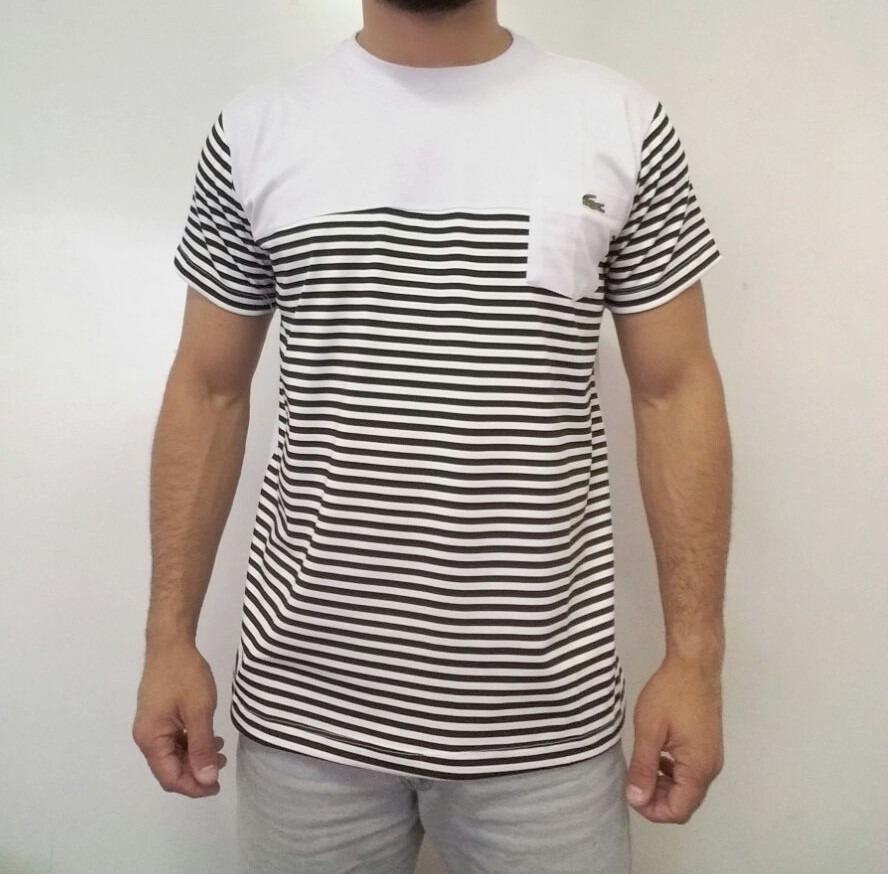 a2a3549f9ce Camiseta Kit C 3 Camisa T-shirt Lacoste Com Elastano E Bolso - R ...