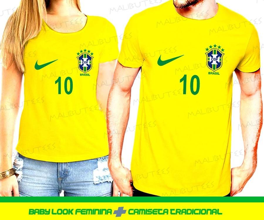 5957aea5a4 camiseta kit casal masculina feminina seleção brasil neymar. Carregando  zoom.