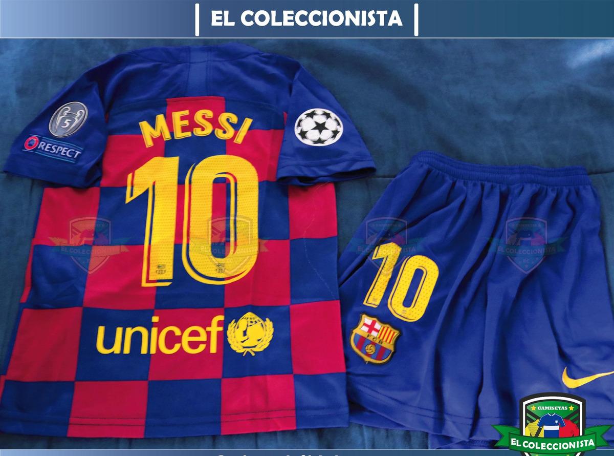 online store c863a f7730 Camiseta Kit De Niños Fc Barcelona Messi 19/20 Bajo Pedido