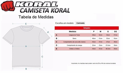 camiseta koral preta