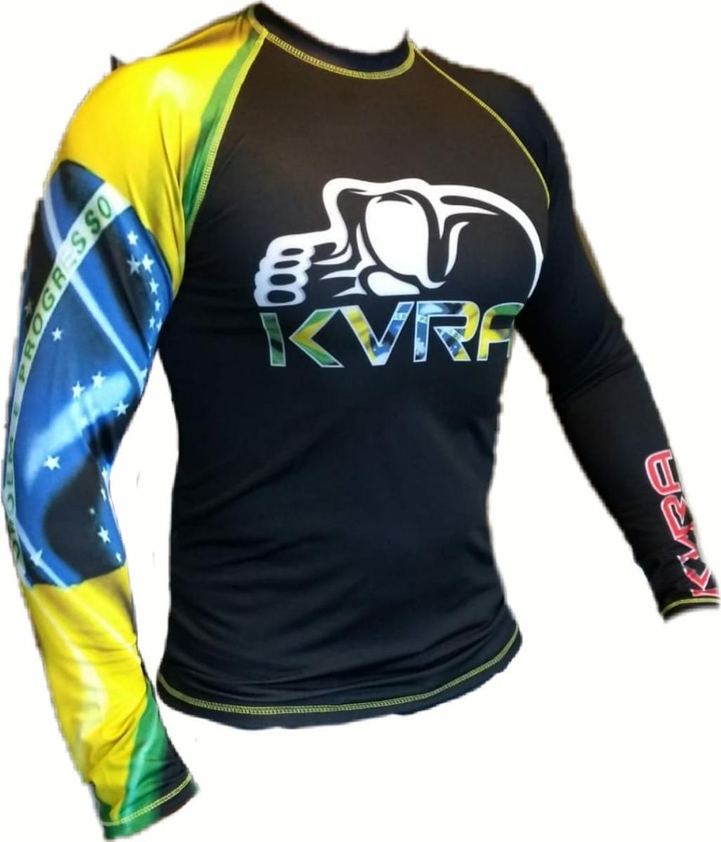 Camiseta Kvra Lycras De Compressão Segunda Pele P m g gg - R  58 2a43dc7f035e1