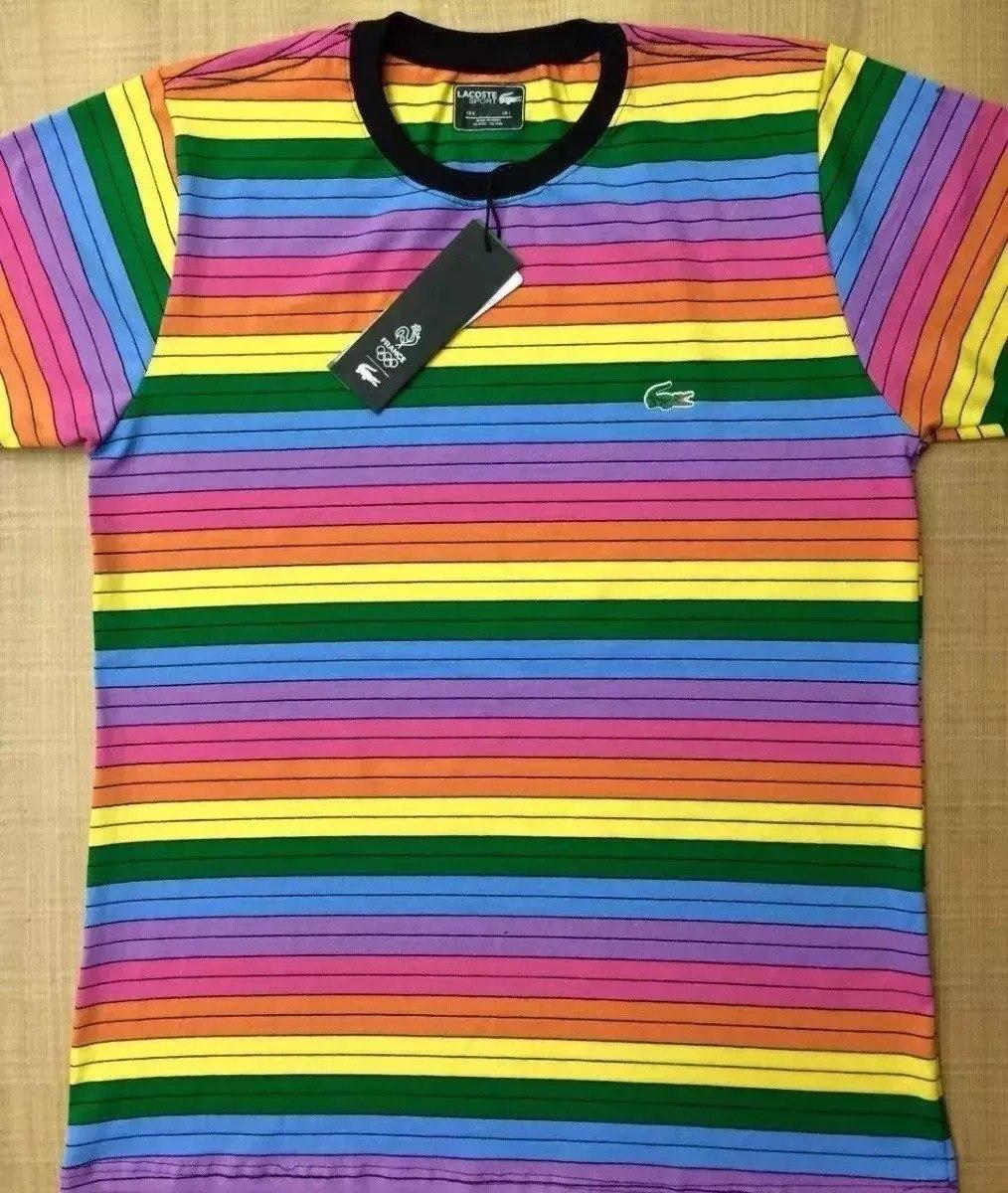 Camiseta Lacoste 3d Arco Íris Masculina Importada Peruana - R  75,00 ... fa871d8d97
