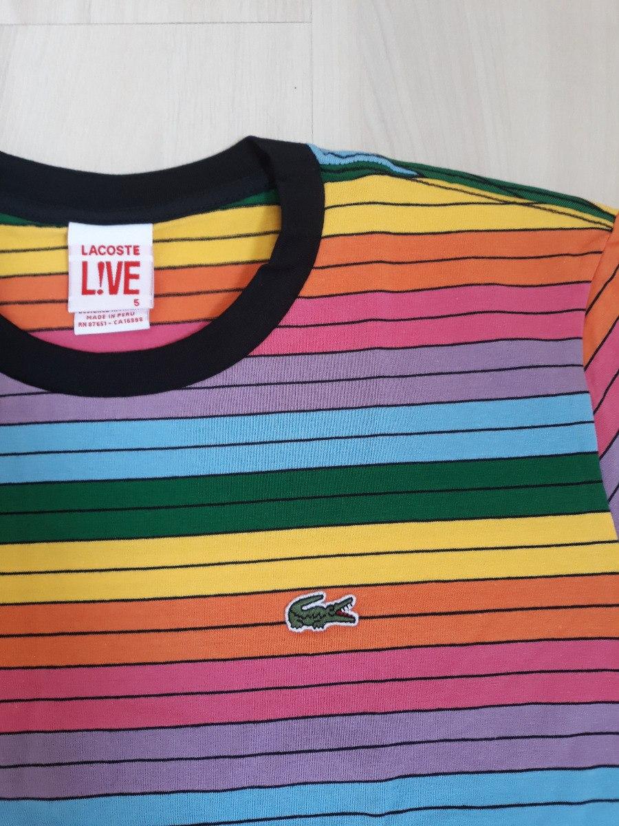 b9532e6ab30 camiseta lacoste 3d arco íris masculina importada peruana. Carregando zoom.