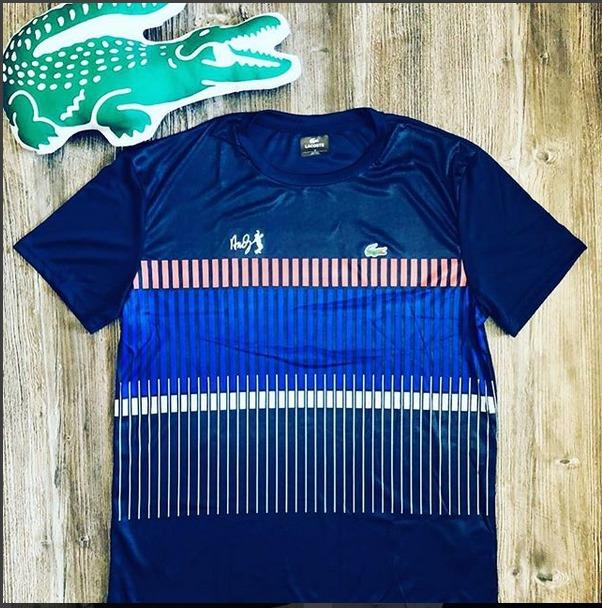 6e42aded5c2 Camiseta Lacoste Arco Iris 3d Colmeia Masculina Peruana Top - R  75 ...
