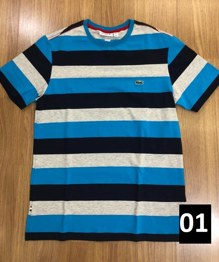 Camiseta Lacoste Arco Iris Kit Com 2 Masculina Feminina R 185 00