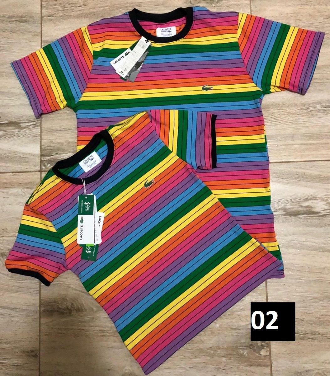 camiseta lacoste arco-iris kit com 2 masculina feminina. Carregando zoom. 691fc9679b
