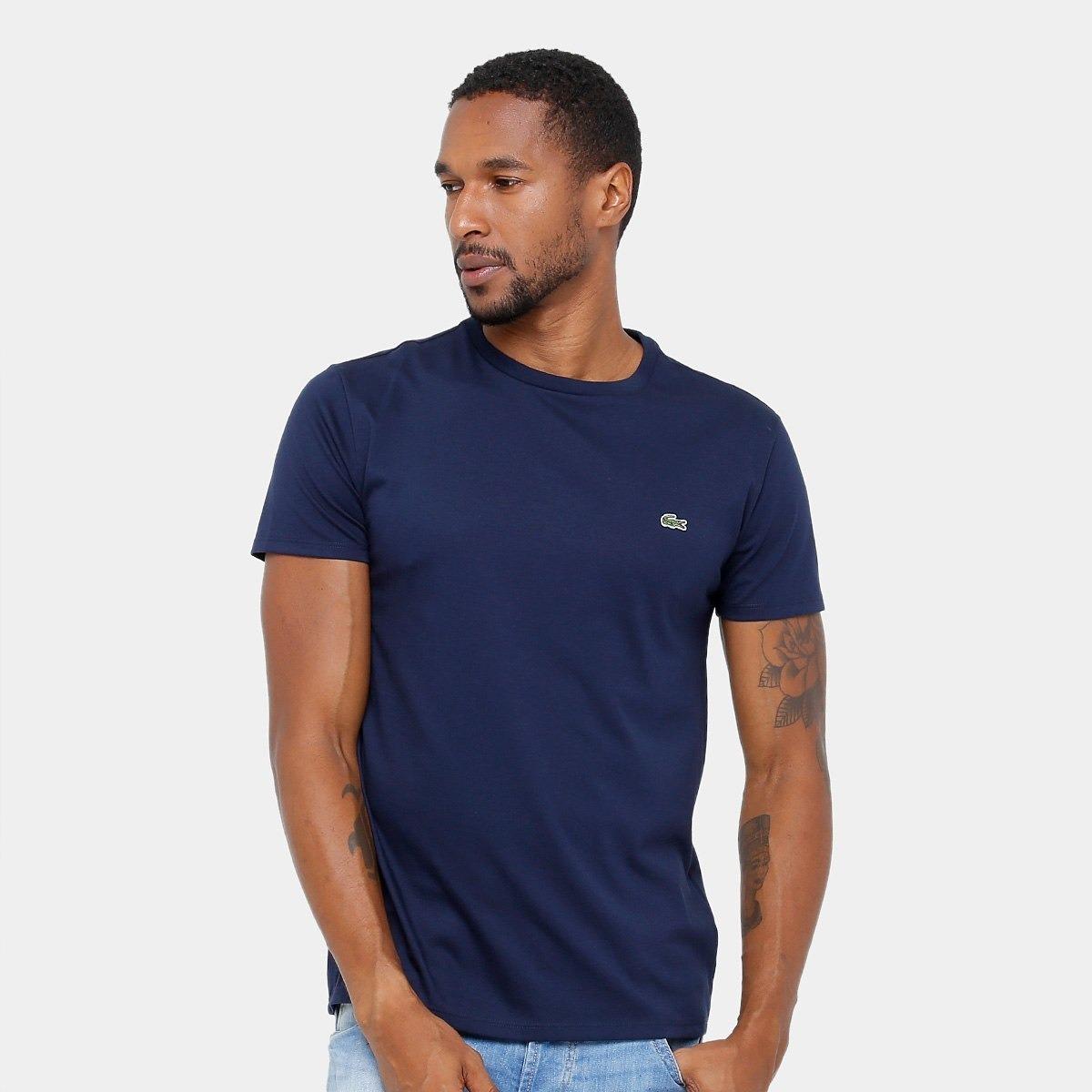 59fe7ee6e65 camiseta lacoste azul marinho. Carregando zoom.