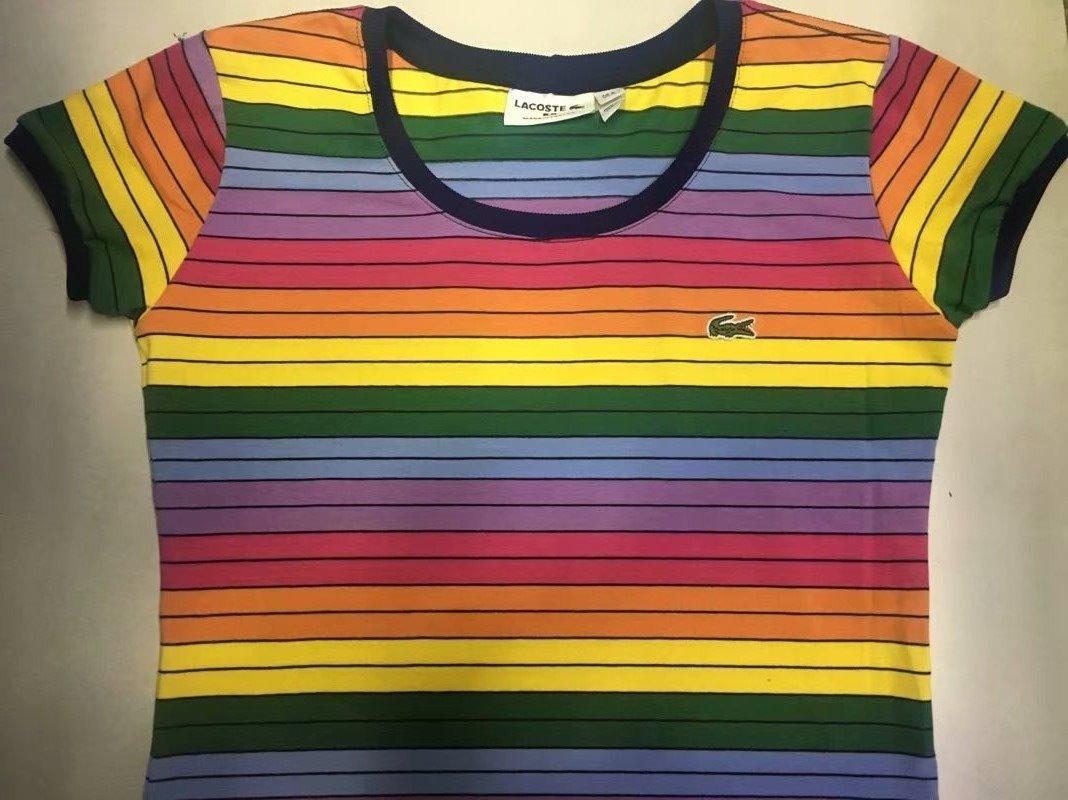 camiseta lacoste feminina arco iris casal original importada. Carregando  zoom. b0679b4dec