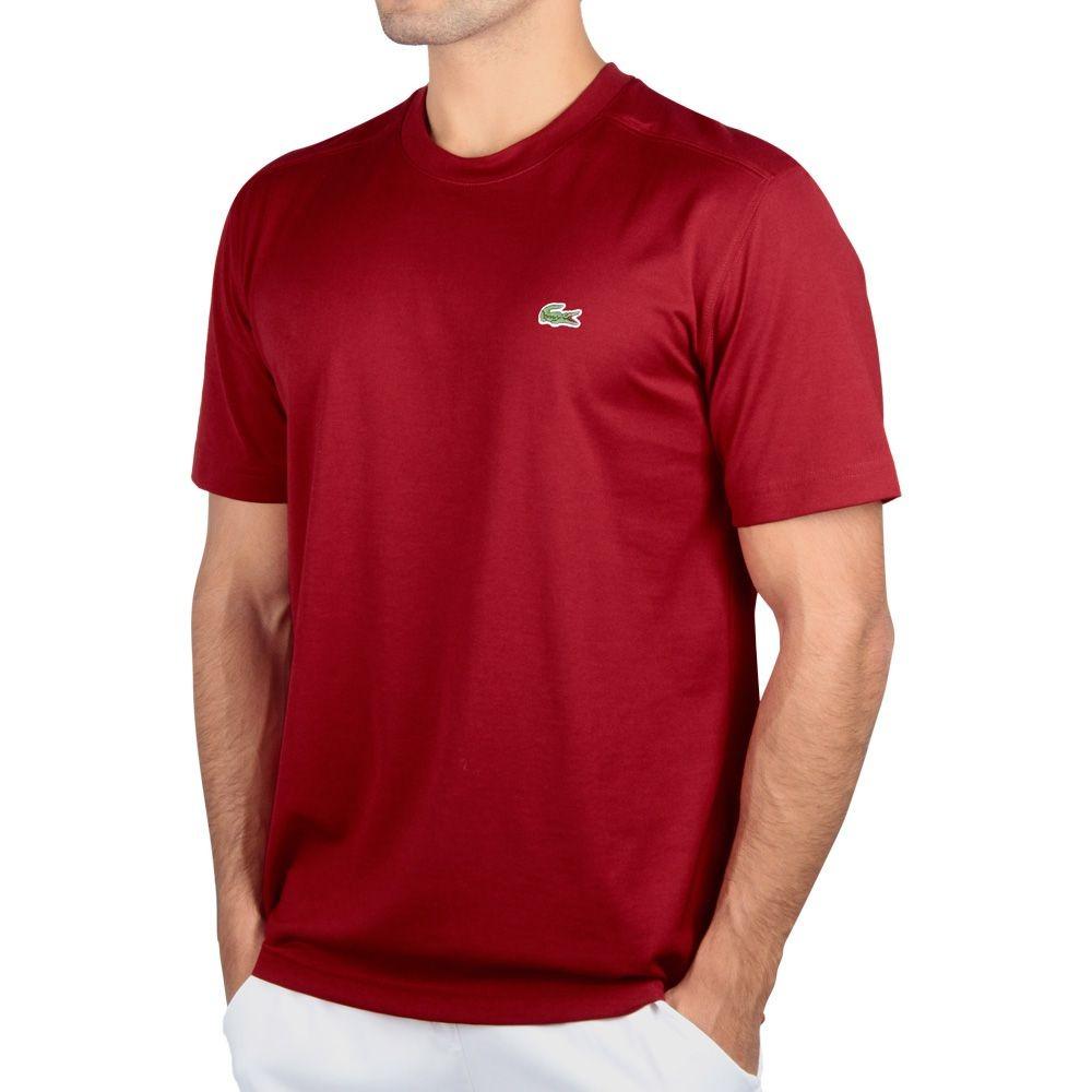 6ee228cbd8d camiseta lacoste lisa tennis vermelho. Carregando zoom.
