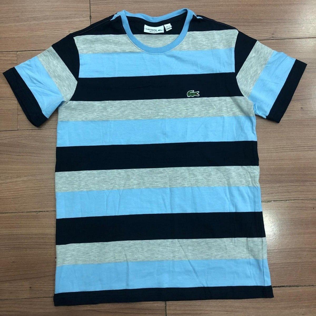 aa5d226e48b camiseta lacoste listrada masculina. Carregando zoom.