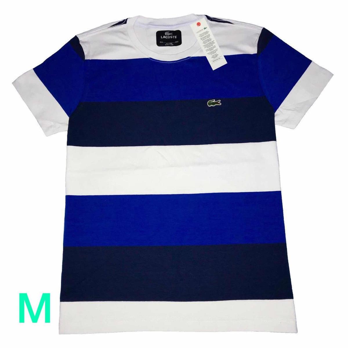 1c053fa65b9 camiseta lacoste listrada peruana 100% original. Carregando zoom.
