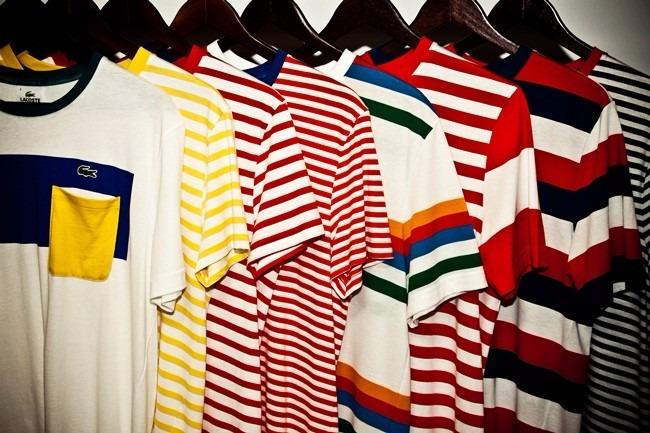 Camiseta Lacoste Listradas - R  599,90 em Mercado Livre 520286ee4f