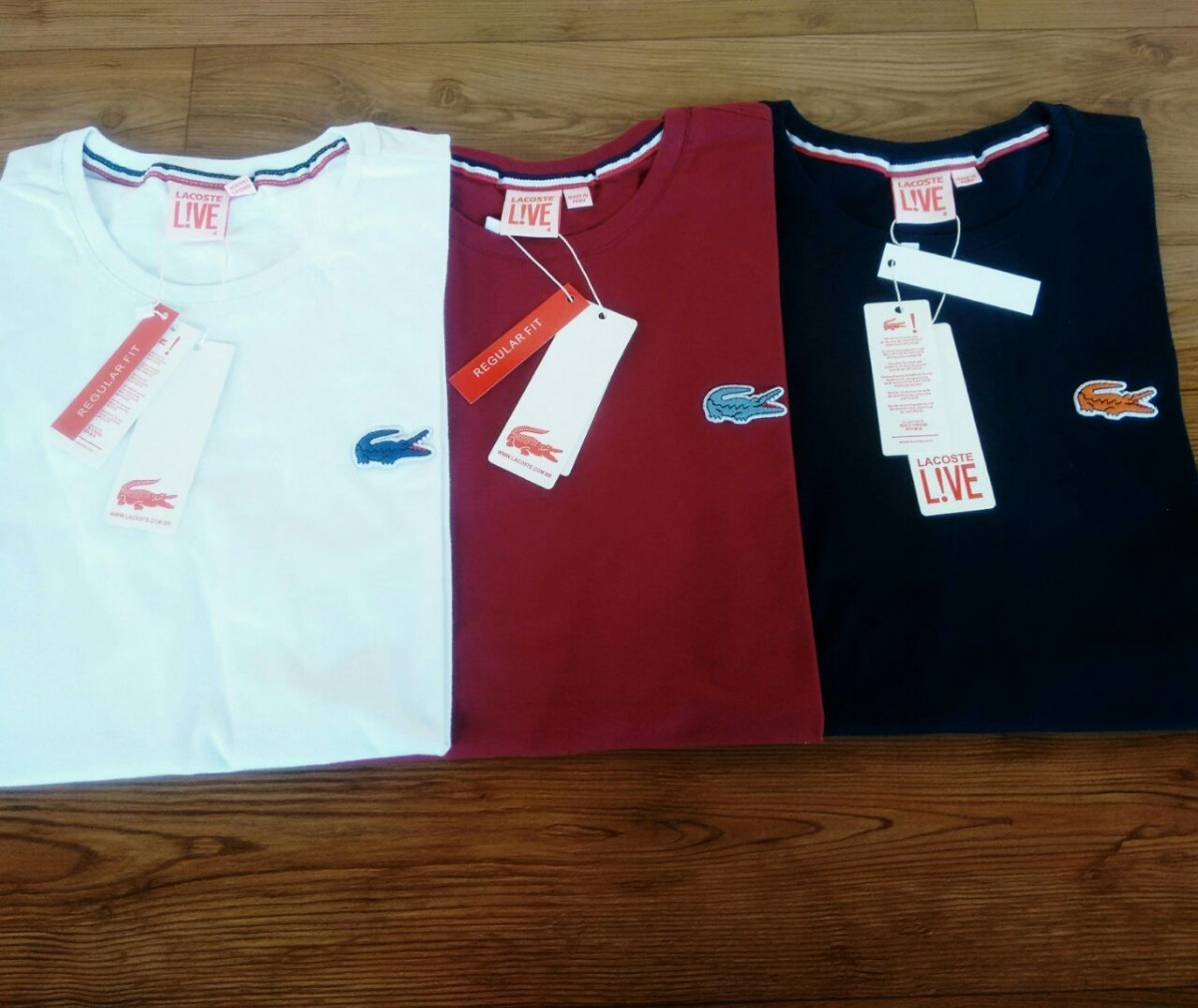 bae84fcbe3a6b Camiseta Lacoste Live Importadas Peruanas 2 Unidades - R  69,90 em ...