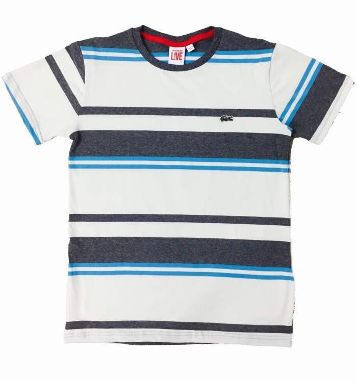 Camiseta Lacoste Live Listrada 100 Original Modelos Cores R 82