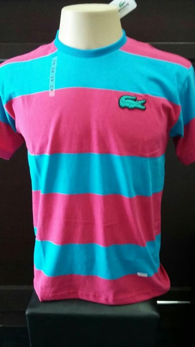camiseta lacoste live listrada gola redonda - importada peru. Carregando  zoom. af78fde2b4