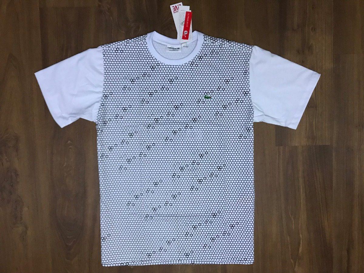 camiseta lacoste live malha peruana strip original tam gg. Carregando zoom. e30957cafb