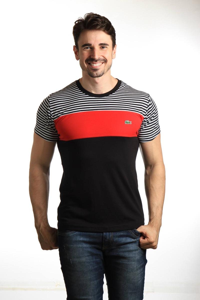 fc3345f7ba3 Camiseta Lacoste Live Masculina Original Polo Camiseta Aj - R  107 ...