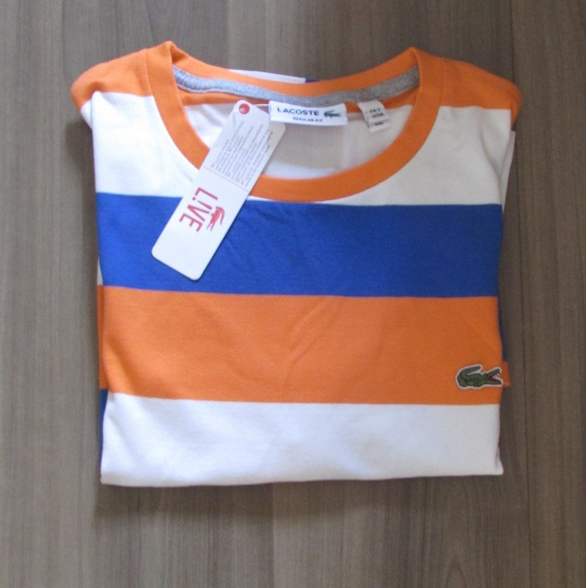 Camiseta Lacoste Live Original Peruana Listrada Tam P - R  59,99 em ... 892fb06c3e