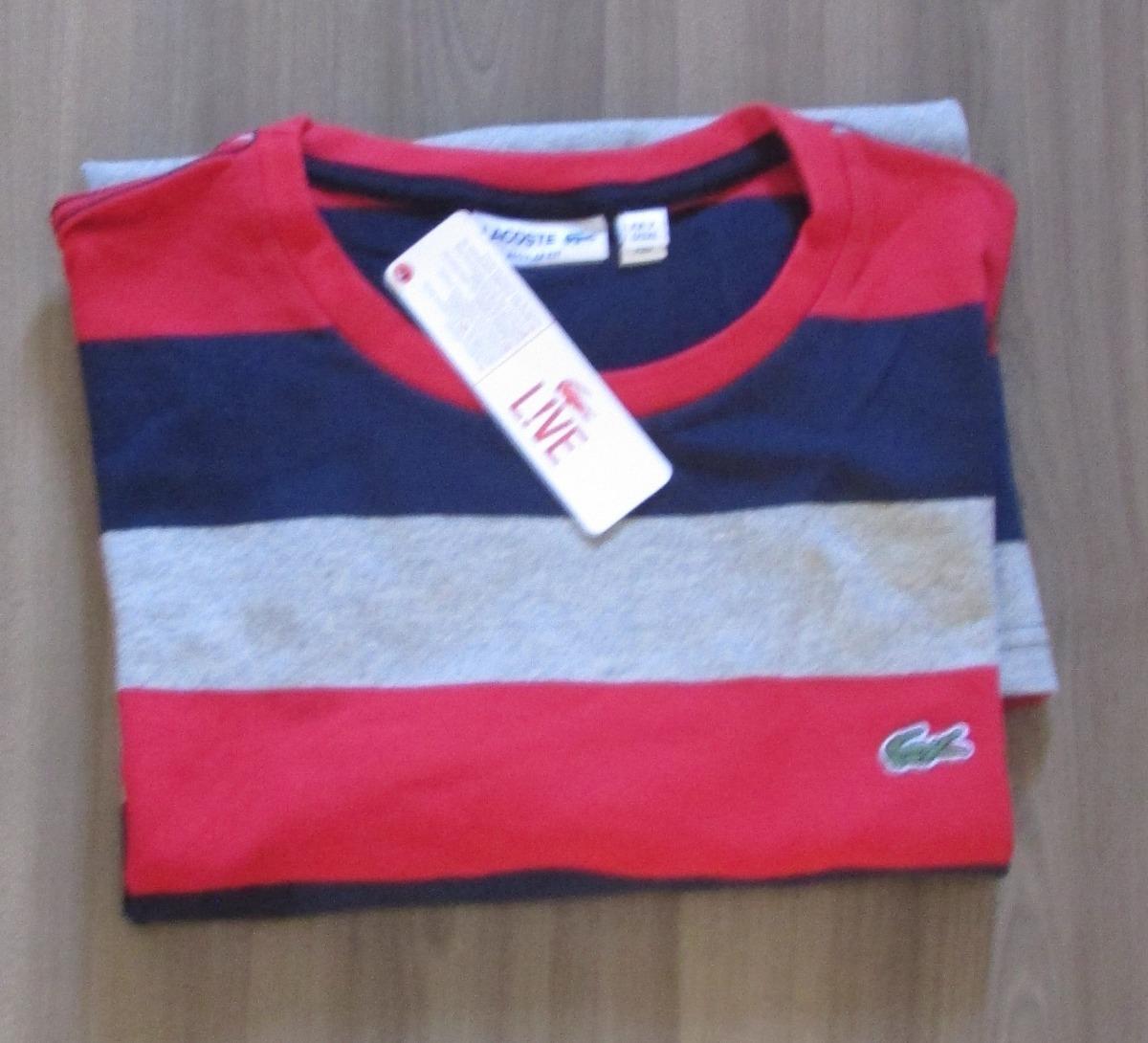 camiseta lacoste live original peruana oferta listrada tam p. Carregando  zoom. 02f7166a81