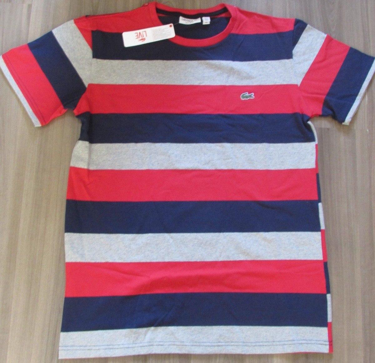 Camiseta Lacoste Live Original Peruana Oferta Listrada Tam P R 65