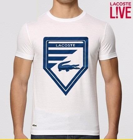 422157387f1df Camiseta Lacoste Masculina Original No Brasil Camiseta Aj - R  119 ...