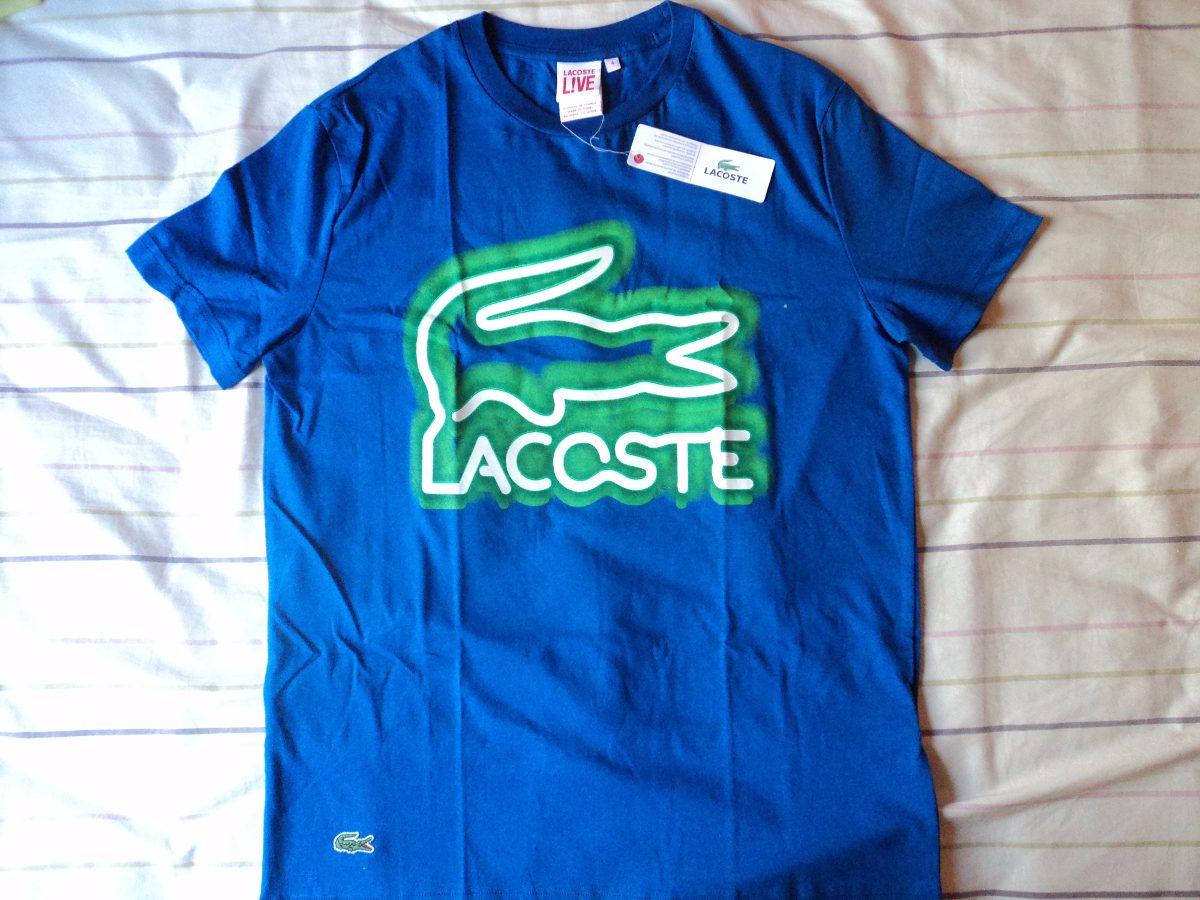 fb69ec968164c camiseta lacoste original live. Carregando zoom.