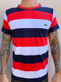 ff06ff113d5 Camiseta Lacoste Regular Fit Masculina Fotos Reais Original!