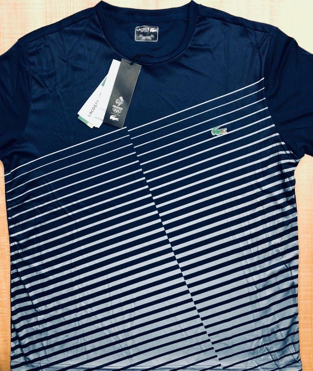 camiseta lacoste sport azul marinho e branco envio imediato. Carregando  zoom. d4a6011b20