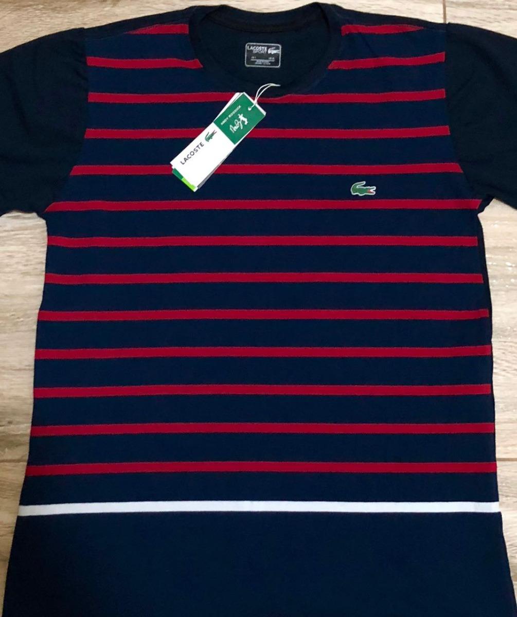 camiseta lacoste sport listrada preto e vinho - envio rapido. Carregando  zoom. 16be3ce473